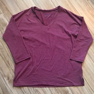 Simply Styled striped v-neck T-shirt